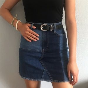 Multi colored jean skirt